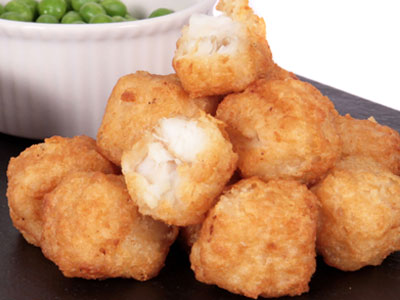 BATTERED COD FILLET BITES